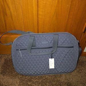 Vera Bradley Medium Traveler Bag NWT Carbon Gray